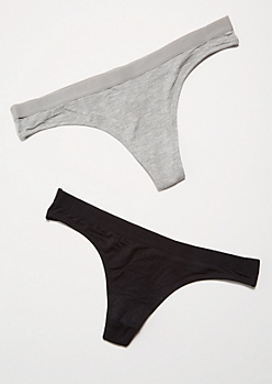 2-Pack Dark Neutral Relaxed Thong Undies Set