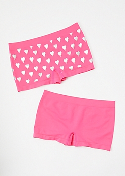 2-Pack Drippy Heart Honey Boyshort Undies Set