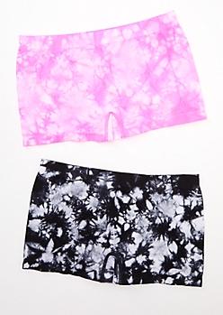 2-Pack Pink Tie Dye Boyshort Undie Set