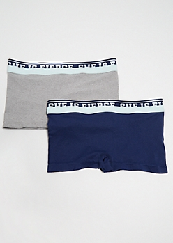2-Pack Gray She is Fierce Boyshort Undies Set