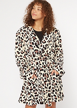 Cheetah Print Cozy Plush Robe