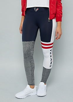 NFL Houston Texans Navy Varsity Striped Leggings