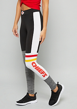 NFL Kansas City Chiefs Black Varsity Striped Leggings