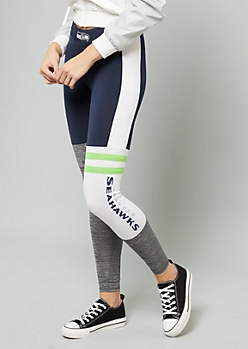 NFL Seattle Seahawks Navy Varsity Striped Leggings