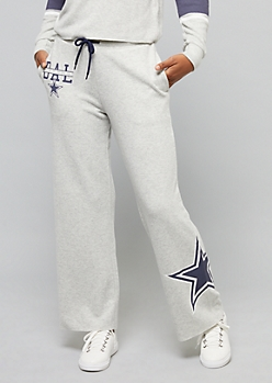 NFL Dallas Cowboys Heather Gray Wide Leg Pants
