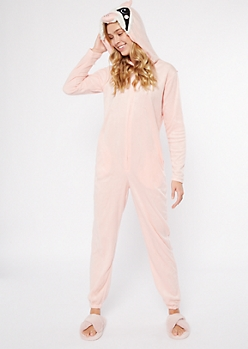 Pink Sloth Plush Onesie