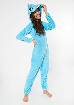 Blue Dinosaur Plush Onesie