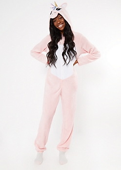 Pink Unicorn Plush Onesie