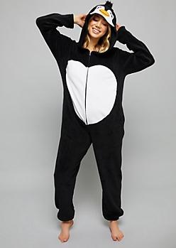Penguin Plush Pajama Onesie