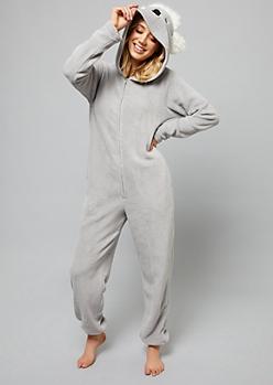 Koala Plush Pajama Onesie