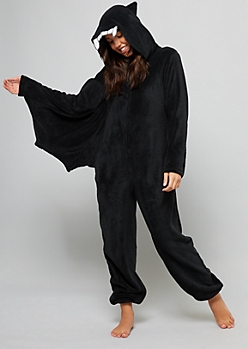 Black Bat Plush Pajama Onesie