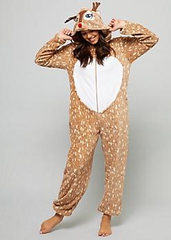 Reindeer Plush Pajama Onesie