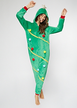 Christmas Tree Plush Onesie