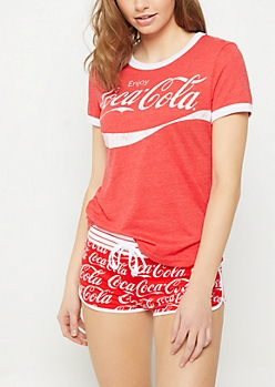 Red Vintage Coca Cola Sleep Set