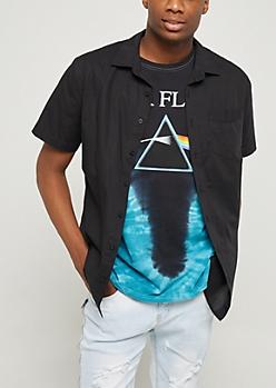 Black Lightweight Button Down Shirt