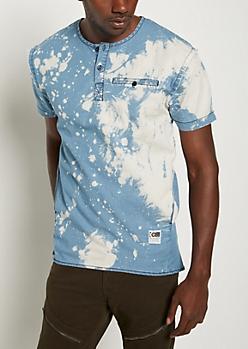 Light Wash Bleached Chambray Shirt