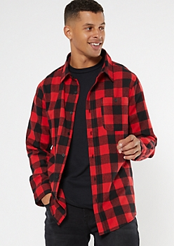 Red Buffalo Plaid Flannel Shirt