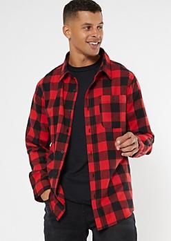 Red Buffalo Plaid Flannel Shirt