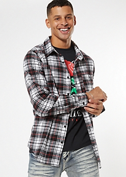 Black Plaid Flannel Shirt