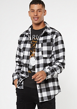 Black Buffalo Plaid Flannel Shirt
