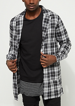 Plaid Trench Button Down Shirt