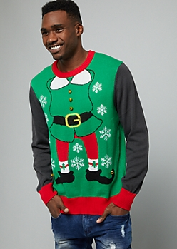 Green Jingle Elf Sweater