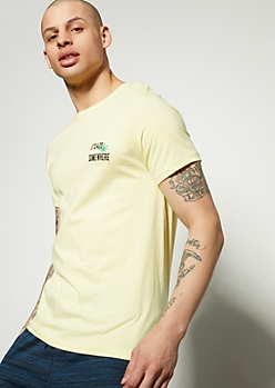 Yellow 420 Weed Embroidered Graphic Tee