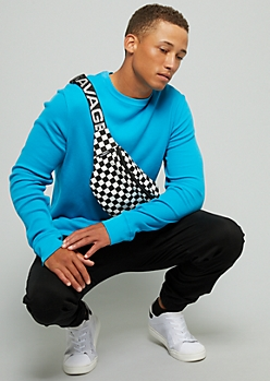 Blue Long Sleeve Thermal Tee