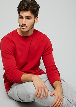 Red Long Sleeve Thermal Tee