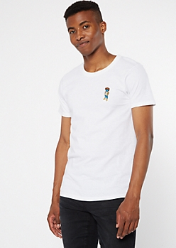 White Bear Mask Embroidered Tee