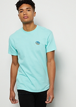 Mint Donut Embroidered Crew Neck Tee