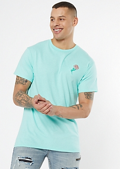 Mint Rose Embroidered Tee