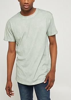 Light Olive Mineral Wash Tee