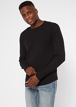 Black Long Sleeve Thermal Top