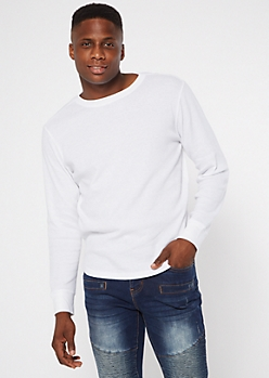 White Long Sleeve Thermal Top