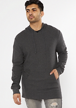 Charcoal Gray Thermal Hoodie