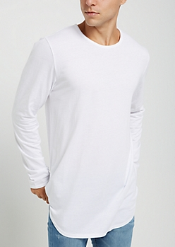 3-Pack Rounded Hem Long Sleeve Tee