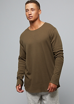 Olive Long Sleeve Thermal Tee