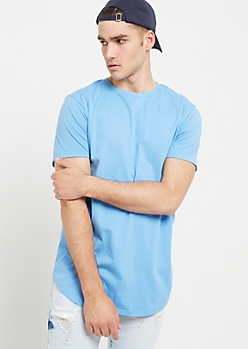 Light Blue Crewneck Short Sleeve Tee