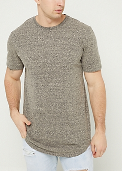 Charcoal Heathered Scoop Neck Tee
