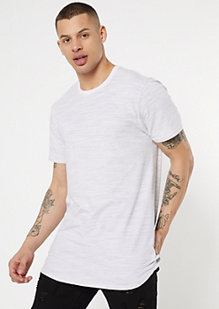 White Space Dye Super Soft Crew Neck Tee