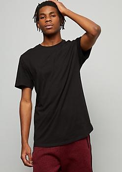 Black Crew Neck Short Sleeve Essential Tee