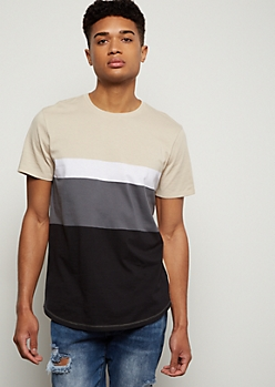 Sand Colorblock Short Sleeve Tee