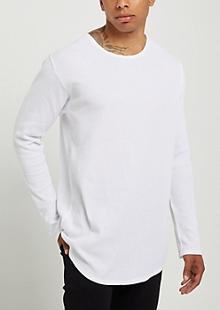 White Thermal Long Sleeve Shirt
