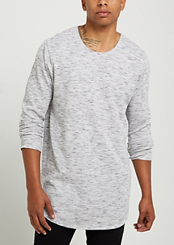 Gray Space Dyed Thermal Shirt
