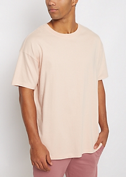 Light Pink Relaxed Fit Essential Tee