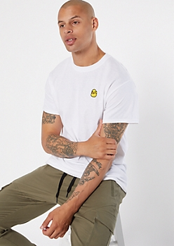 White Rubber Duck Embroidered Tee