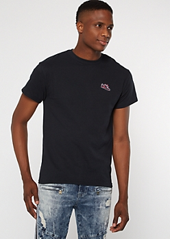 Black Shoe Embroidered Tee