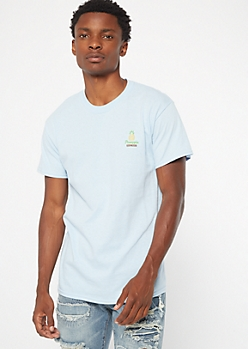 Blue Pineapple Express Embroidered Tee