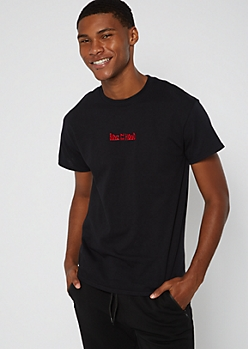 Black Boyz N The Hood Embroidered Tee